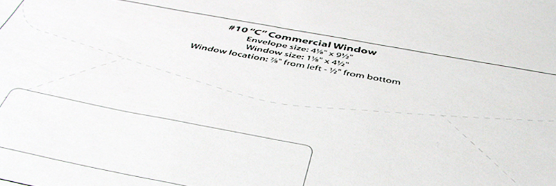 Envelope Templates Commercial Window Envelope Template WSEL - 10x13 envelope template