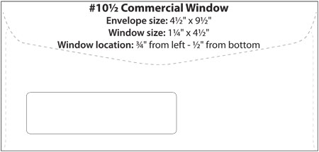 Envelope Templates Commercial Window Envelope Template WSEL - No 10 envelope template