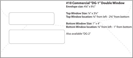 Envelope Templates - Commercial Window Envelope Template | WSEL