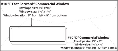Envelope templates commercial window envelope template wsel fbccfo Image collections