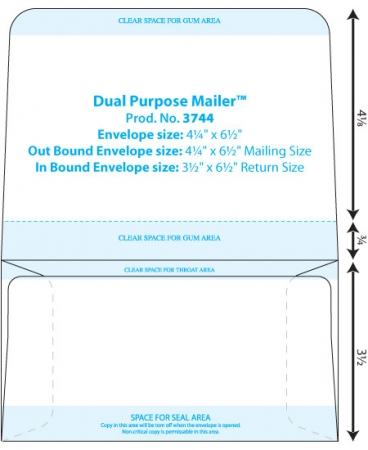 Envelope Templates Collection Dual Page Envelope Template WSEL - Remit envelope template