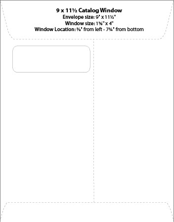 Envelope Templates Commercial Window Envelope Template WSEL - 9x12 envelope printing template