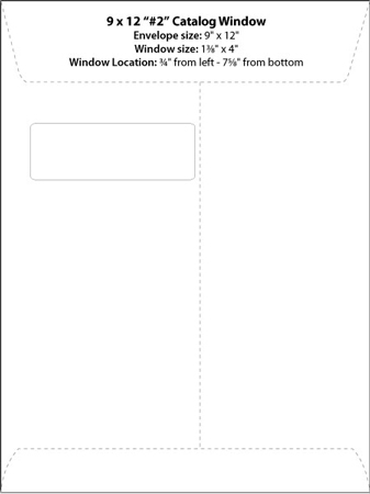 Envelope Templates Commercial Window Template Wsel Rh Com A 9 Envelopes Double