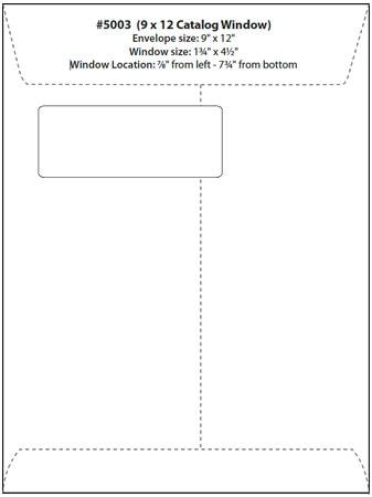 window envelope letter template