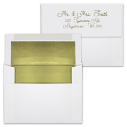 Gold Foil Imprint Envelopes