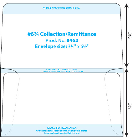 Collection & Dual Purpose Envelope Template | Western States | WSEL