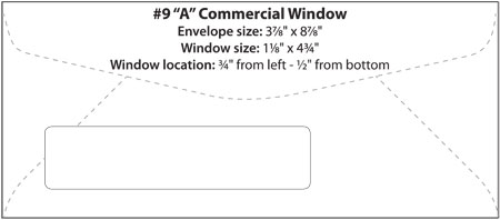 Commercial window booklet catalog templates western for Window envelope design