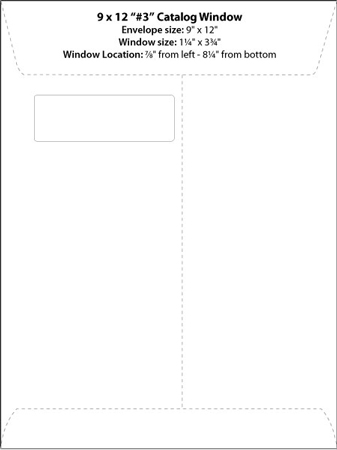 Commercial window booklet catalog templates western for 10x13 window envelope