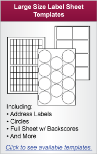 Large Size Laser Label Templates